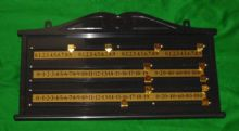 SNOOKER OR BILLIARDS TABLE ABS PLASTIC SCOREBOARD BRASS 2-4 PLAYER SCORE BOARD